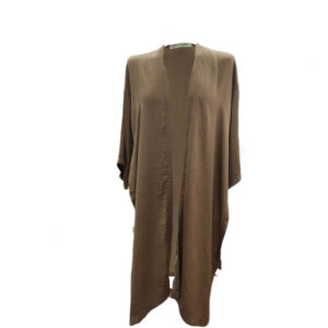 Chaqueta kimono raso Moutaki marrón