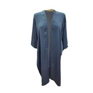 Chaqueta kimono raso Moutaki azul