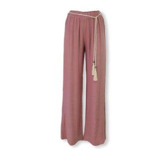 Pantalón ancho con cinturón Moutaki rosa