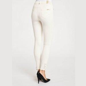 Pantalón color blanco con cordones Gaudí