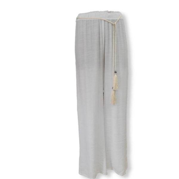 Pantalón ancho con cinturón Moutaki blanco