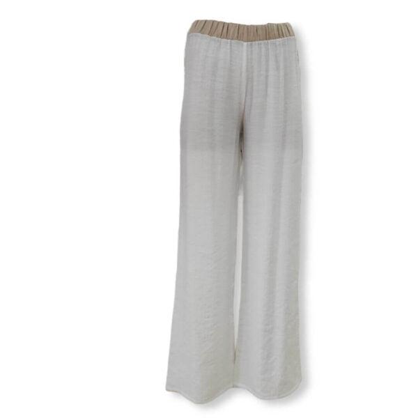 Pantalón ancho con cinturilla dorada Moutaki
