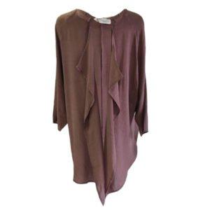 Kimono de viscosa Moutaki marrón