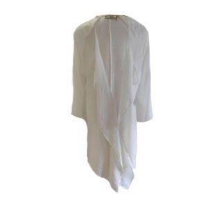 Kimono de viscosa Moutaki blanco