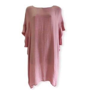 Vestido oversize escote en la espalda Moutaki rosa