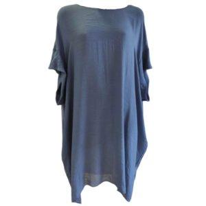 Vestido oversize escote en la espalda Moutaki azul