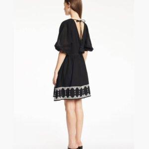 Vestido corto boho negro Gaudí