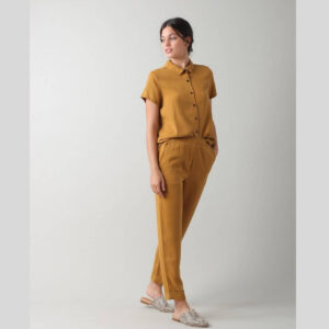 Camisa Daisy lyocell indieandcold ocre