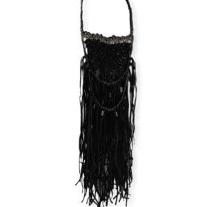 Collar extra grande de cuero y metal negro Nü Denmark