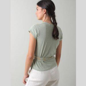 Camiseta bordada verde indiandcold