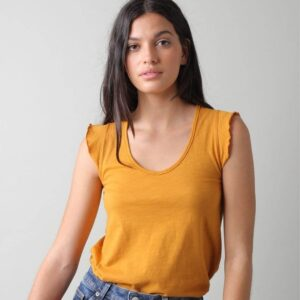 Camiseta ocre sin mangas indiandcold