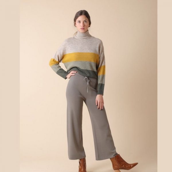 Jersey oversize a rayas y cuello vuelto indiandcold